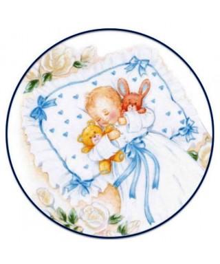 cialda ostia per torta Battesimo Maschio