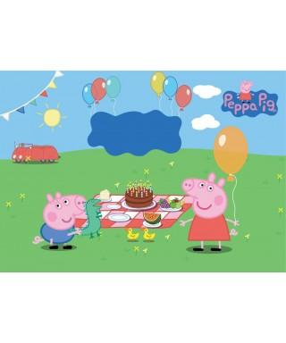 Cialda per torta Peppa Pig