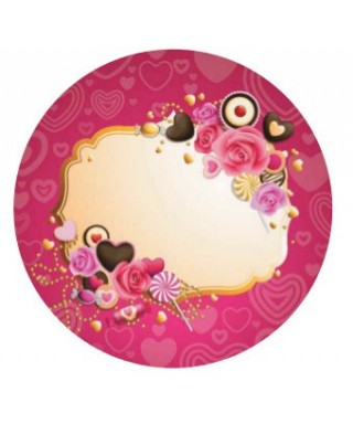 Cialda per torta san Valentino