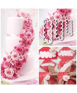 Tagliapasta per petali di rosa Set di 3 pz.