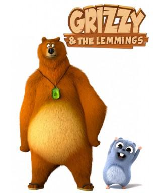 Cialda per torta grizzy ei lemming