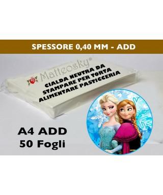 Cialda per torta per stampante alimentare Conf.  25 - 50 Pezzi