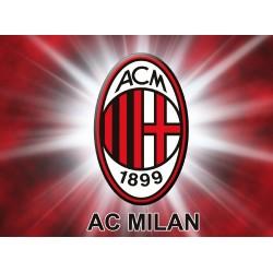 Cialda ostia per torta Milan logo stemma da personalizzare