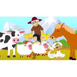 Cialda ostia per torta Animali della fattoria